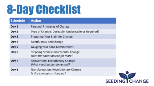 TPP Blog Post - 8-Day Checklist Prepping for Change